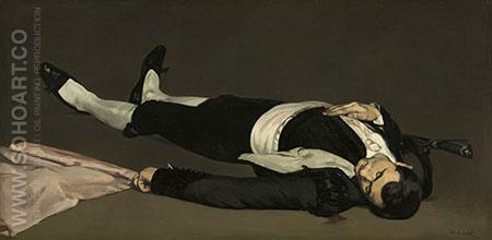 The Dead Toreador 1864 - Edouard Manet reproduction oil painting