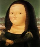 Mona Lisa - Fernando Botero reproduction oil painting