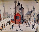 A Street In Clitheroe - L-S-Lowry