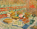 Parisian Novels Yellow Books 1887 - Vincent van Gogh reproduction oil painting