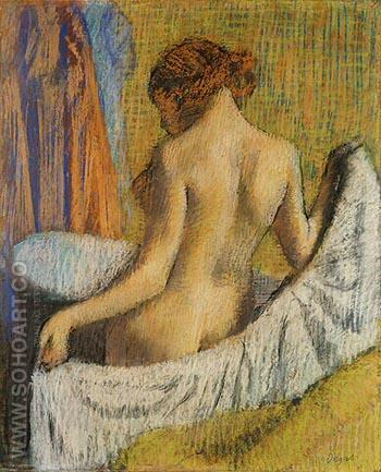 After the Bath, Woman with a Towel - Edgar Degas reproduction oil painting