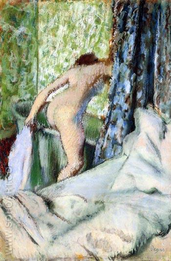 Bain du Matin Morning Bath 1883 - Edgar Degas reproduction oil painting