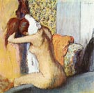 After the Bath 2 - Edgar Degas reproduction oil painting