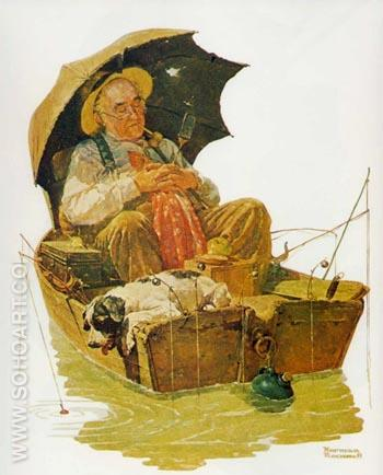 Gone Fishing - Fred Scraggs reproduction oil painting
