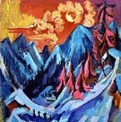 Winter Landscape 1919 - Ernst Kirchner reproduction oil painting