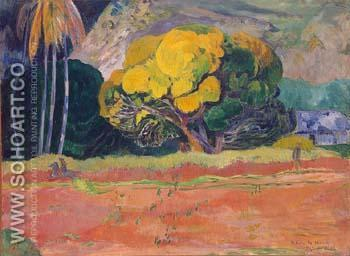 Fatata Te Moua At the Foot of a Mountain 1892 - Paul Gauguin reproduction oil painting