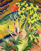 Curving Bay 1914 - Ernst Kirchner reproduction oil painting