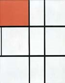Composition B with Red - Piet Mondrian reproduction oil painting