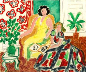 Robe Jaune Et Robe Arlequin 1940 - Henri Matisse reproduction oil painting