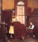 The Marriage License - Fred Scraggs reproduction oil painting