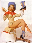 Rarin to Go - Pin Ups reproduction oil painting