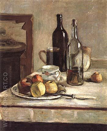 Still Life with Two Bottles 1896 - Henri Matisse reproduction oil painting