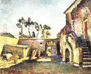 The Courtyard of the Mill 1898 - Henri Matisse reproduction oil painting