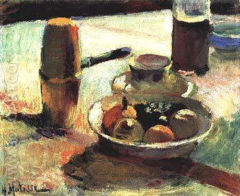 Fruit and Coffee-Pot. 1899 - Henri Matisse reproduction oil painting
