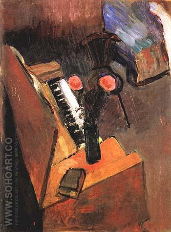 Interior with Harmonium - Henri Matisse reproduction oil painting