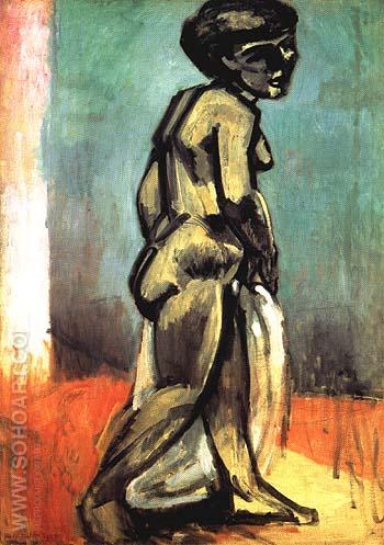 Standing Model / Nude in Blue 1900 - Henri Matisse reproduction oil painting
