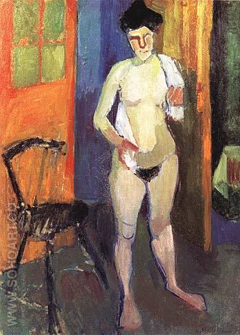 Nude with a White Towel 1902 - Henri Matisse reproduction oil painting