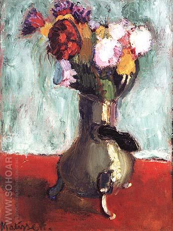 Bouquet of Flowers in a Chocolate Pot 1902 - Henri Matisse reproduction oil painting