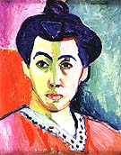 Portrait of Mme Matisse The Green Line 1905 - Henri Matisse reproduction oil painting