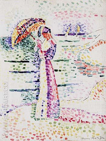 Figure with Parasol 1905 - Henri Matisse reproduction oil painting