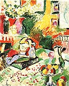 Interior with a Young Girl Girl Reading 1905 - Henri Matisse reproduction oil painting