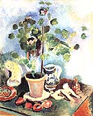 Still Lift with a Geranium 1906 - Henri Matisse reproduction oil painting