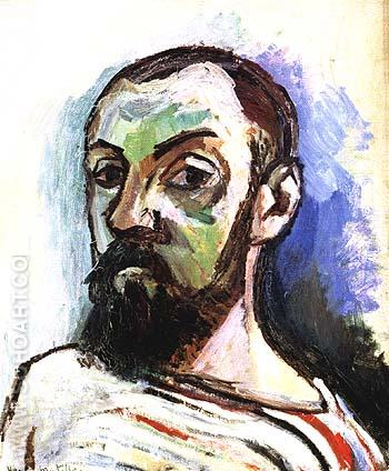 Self-Portrait 1906 - Henri Matisse reproduction oil painting
