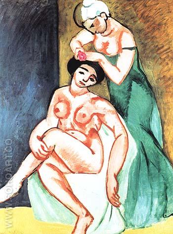 La Coiffure 1907 - Henri Matisse reproduction oil painting