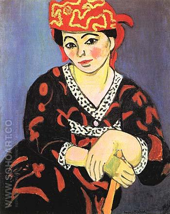 The Red Madras Headdress 1907 - Henri Matisse reproduction oil painting
