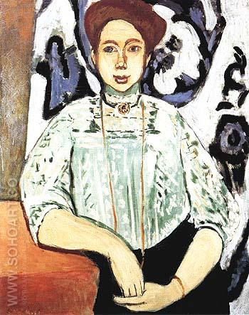 Portrait of Greta Moll 1908 - Henri Matisse reproduction oil painting