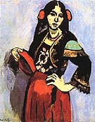 Spanish Woman with a Tambourine 1909 - Henri Matisse reproduction oil painting