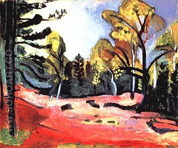 Clearing in the Woods of Fontainebleau 1909 - Henri Matisse reproduction oil painting