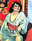 Algerian Woman 1909 - Henri Matisse reproduction oil painting