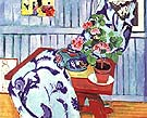 Still Lift with a Geranium 1910 - Henri Matisse reproduction oil painting