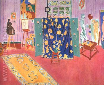 The Pink Studio 1911 - Henri Matisse reproduction oil painting