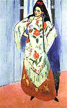 The Manila Shawl 1911 - Henri Matisse reproduction oil painting