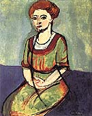 Portrait of Olga Merson 1911 - Henri Matisse reproduction oil painting