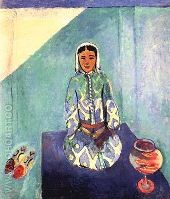 Zorah on the Terrace 1912 - Henri Matisse reproduction oil painting