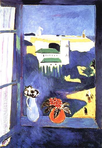 Landscape Viewed from a Window 1912 - Henri Matisse reproduction oil painting