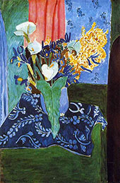 Calla Lilies, Irises, and Mimosas 1913 - Henri Matisse reproduction oil painting