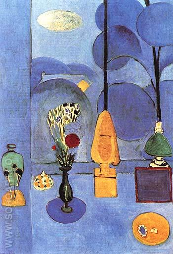 The Blue Window 1913 - Henri Matisse reproduction oil painting