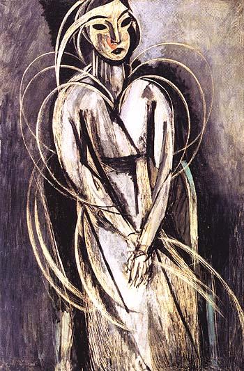 Portrait of Mlle Yvonne Landsberg 1914 - Henri Matisse reproduction oil painting