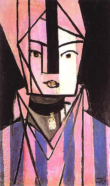 White and Pink Head 1914 - Henri Matisse reproduction oil painting