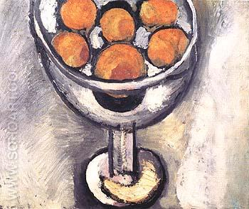 A Vase with Oranges 1916 - Henri Matisse reproduction oil painting