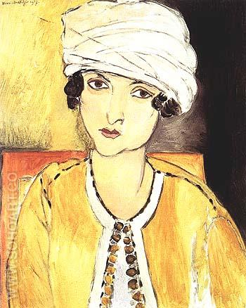 Laurette with Turban, Yellow Jacket 1917 - Henri Matisse reproduction oil painting