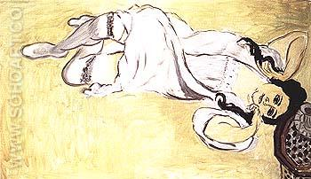 Laurette with a Cup of Coffee 1917 - Henri Matisse reproduction oil painting