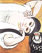 Reclining Laurette with a Cup of Coffee 1917 - Henri Matisse reproduction oil painting