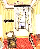My Room at the Beau-Rivage 1917 - Henri Matisse reproduction oil painting