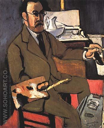 Self-Portrait 1918 - Henri Matisse reproduction oil painting