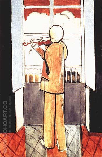 Violonist at the Window 1918 - Henri Matisse reproduction oil painting